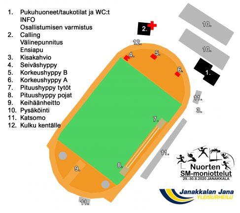 Kilpailualueen kartta