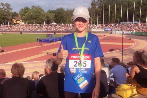 Maija Harju voittoon Youth Athletics Gameseissa